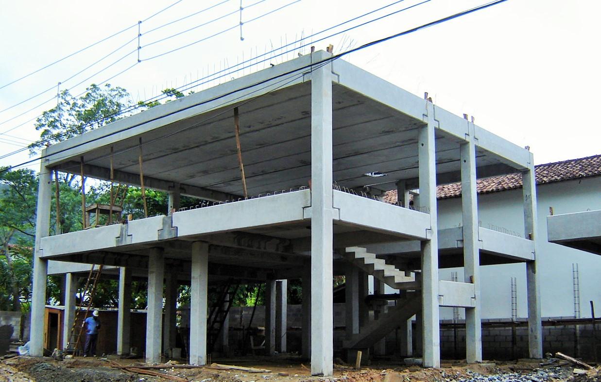Residência em estrutura pré-fabricada